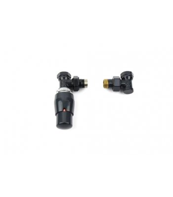 Anthracite deluxe TRV valve set Angled