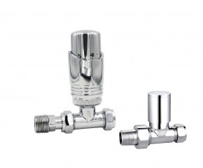 Straight Chrome Deluxe valve set